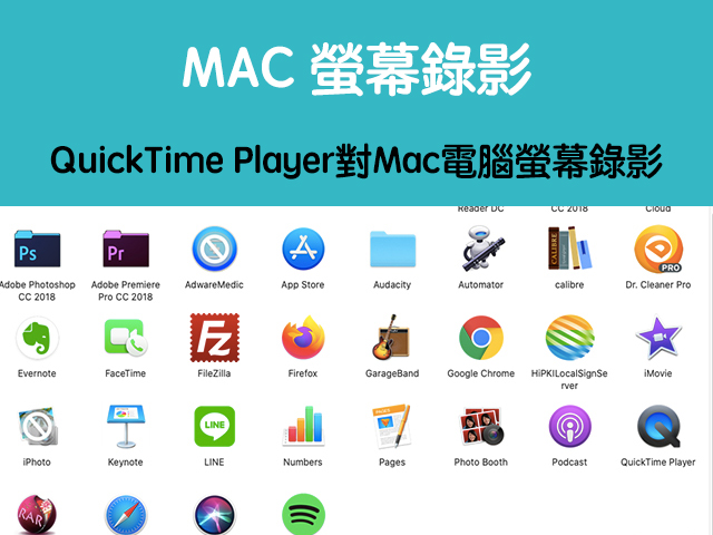 mac螢幕錄影
