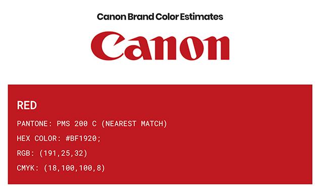 品牌顏色代碼查詢