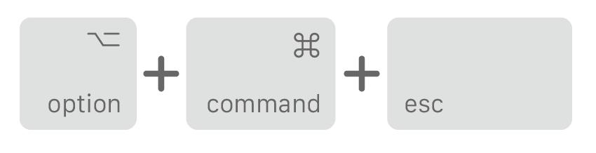 Mac 強制結束App快捷鍵教學