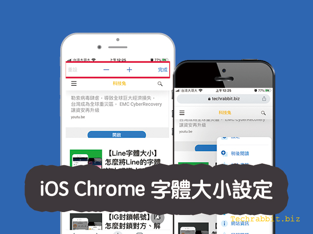 iOS Chrome 字體大小
