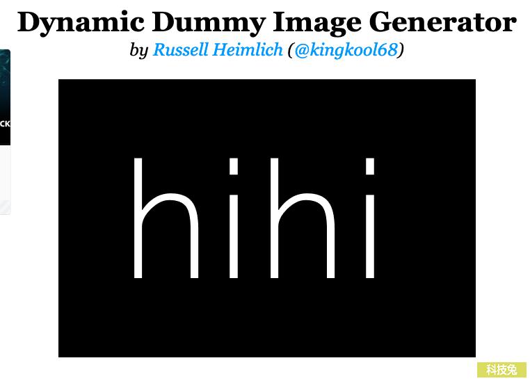 Dummy Image 網頁圖片產生器