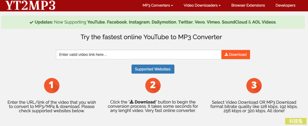 YT2MP3!Youtube MP3轉換器