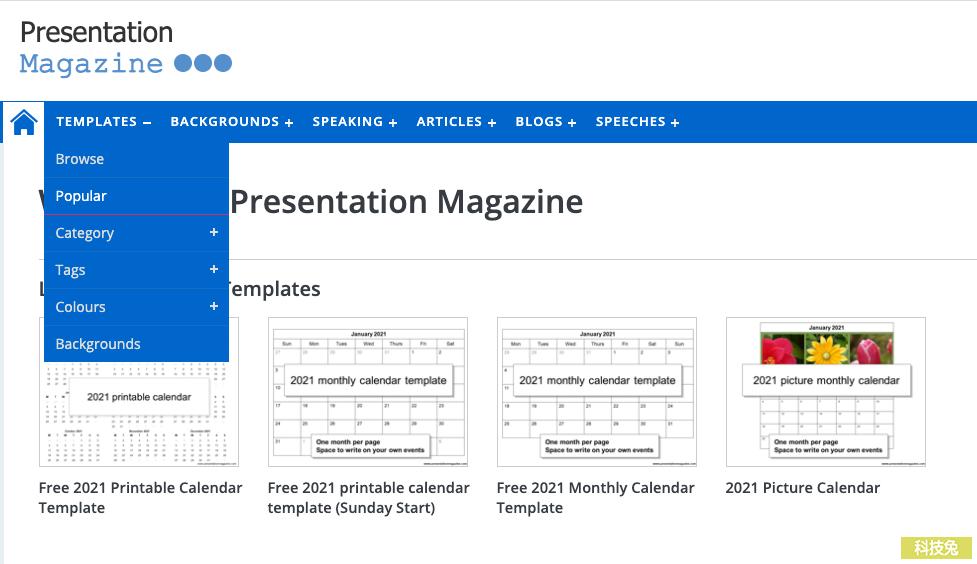 PresentationMagazine 上萬個PPT簡報模板免費下載,不需註冊