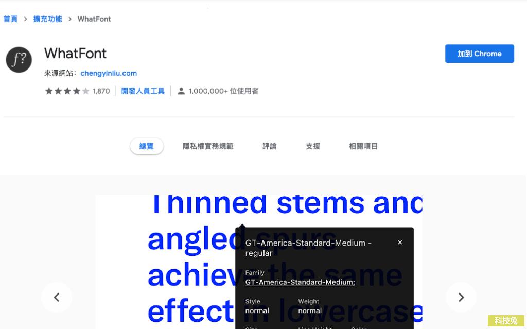 WhatFont 找出網頁使用的字體字型大小、顏色、間距、行距(Chrome 外掛)