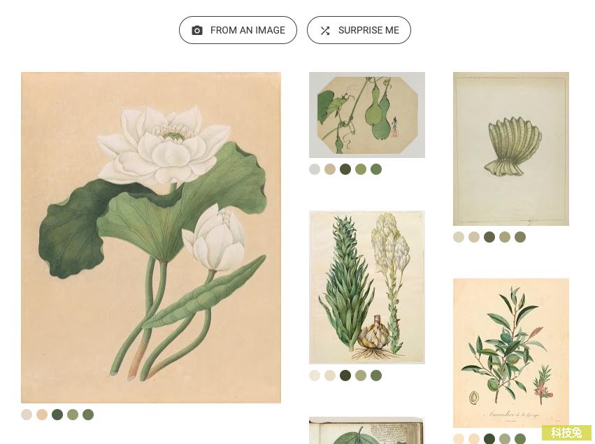 Google Art Palette 找出圖片顏色配色、免費藝術品色調組合