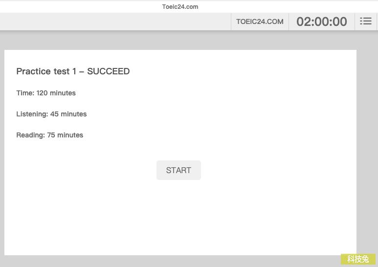 Toeic24 線上多益Toeic 歷屆模擬試題