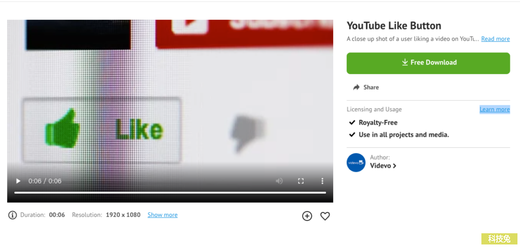 Videvo1 免費影片動畫素材下載,免費可商用無須註冊!