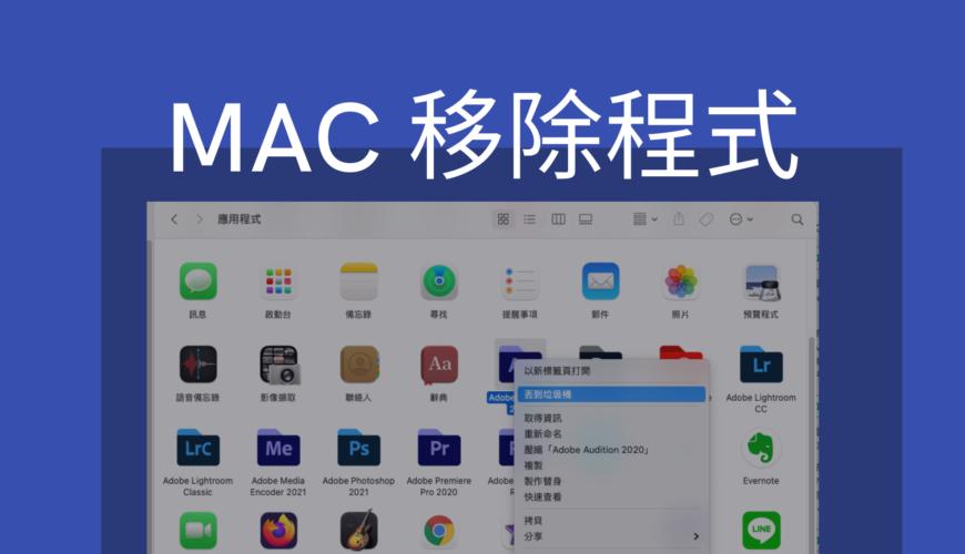 Mac 移除程式軟體,三種方法完整刪除Mac程式!教學
