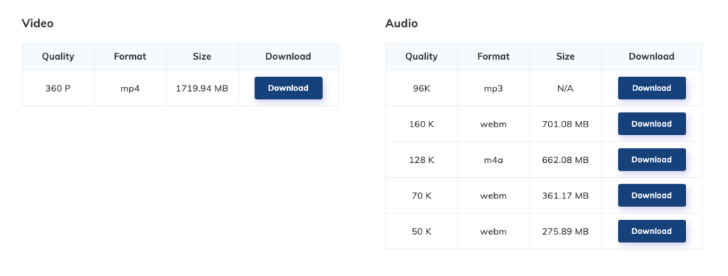 Download4.cc各種MP4/MP3格式下載