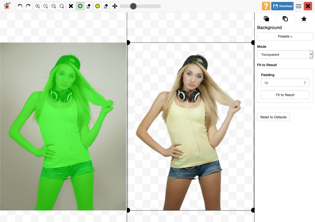 Photoscissors 線上一鍵圖片去背