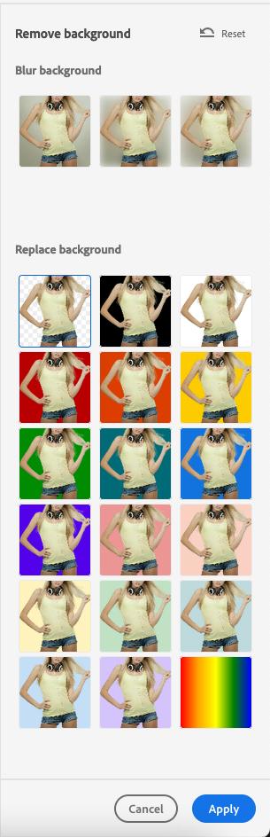 Photoshop Express 去背圖片加入背景色