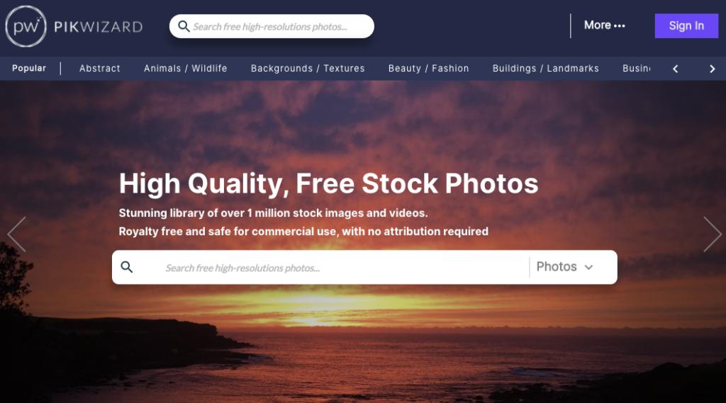 Pikwizard 免費線上圖片圖庫