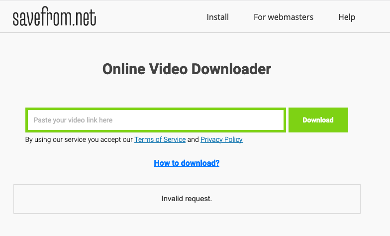 Savefrom.net 線上影片下載器