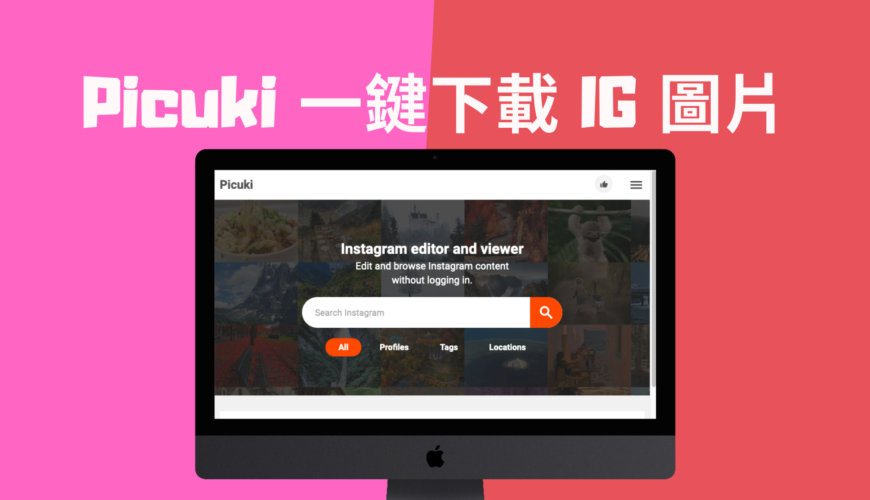 Picuki 一鍵下載 IG 所有貼文照片圖片完整尺寸,可線上編輯!免註冊登入