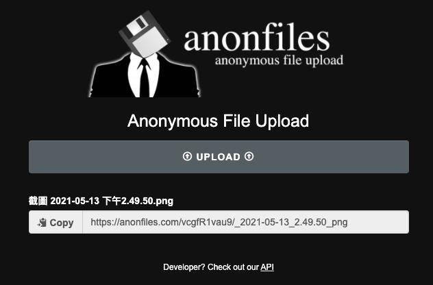 複製 Anonfiles 檔案下載連結給別人