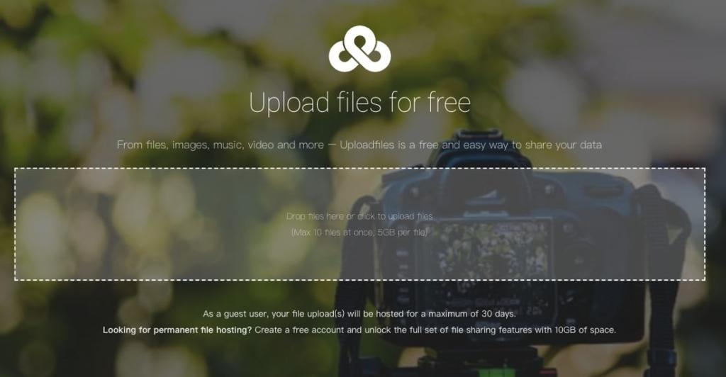 直接在 Ufile.io 網頁上點擊或拖曳上傳檔案