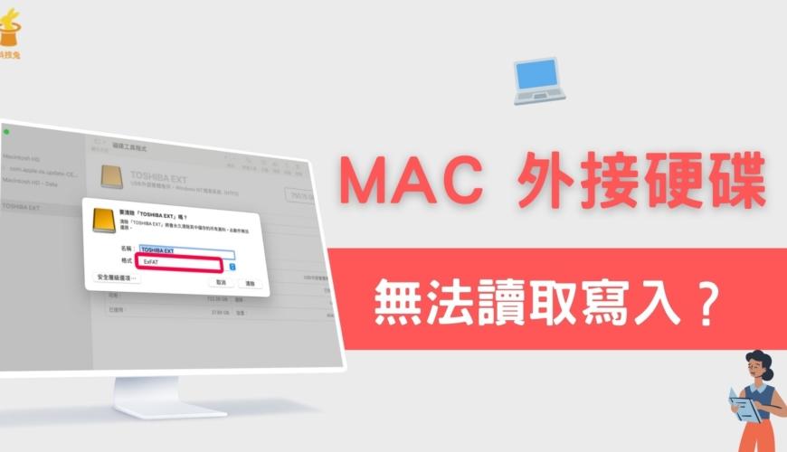 MAC 外接硬碟無法讀取寫入、無所需權限?教你快速格式化外接硬碟!