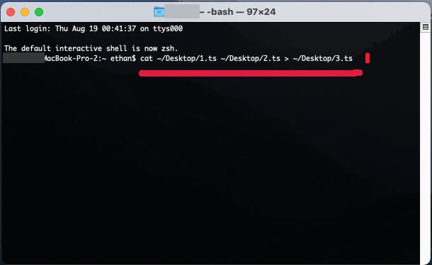 MAC上的 .TS 檔案如何合併?