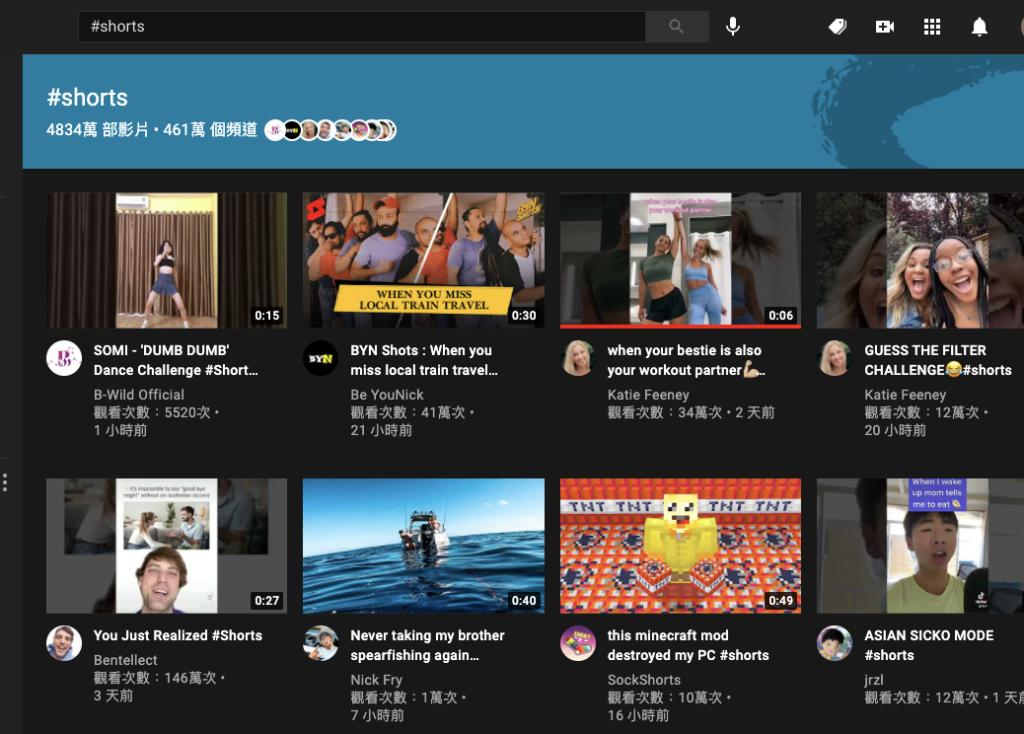 YouTube 電腦版觀看 YouTube Shorts 短影片